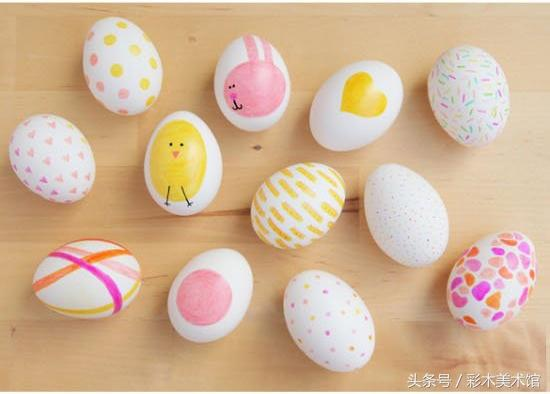 鸡蛋壳画简单可爱图片_可可简笔画