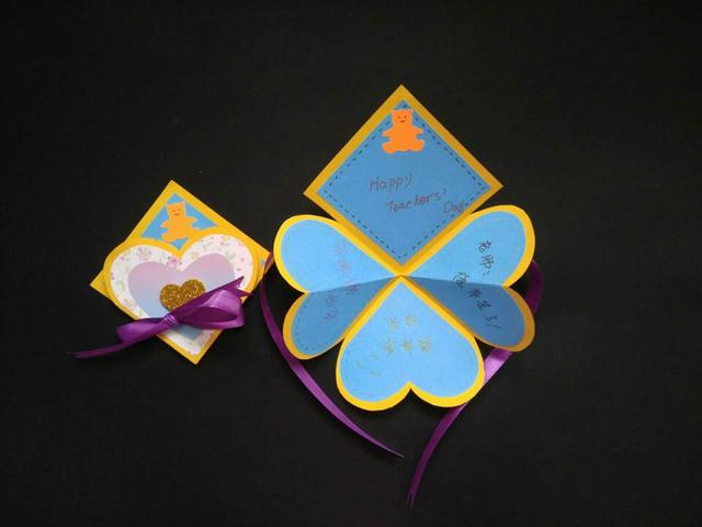 创意|立体花朵贺卡的制作及图解