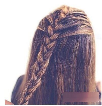教你编清爽简单辫子发型步骤图解!