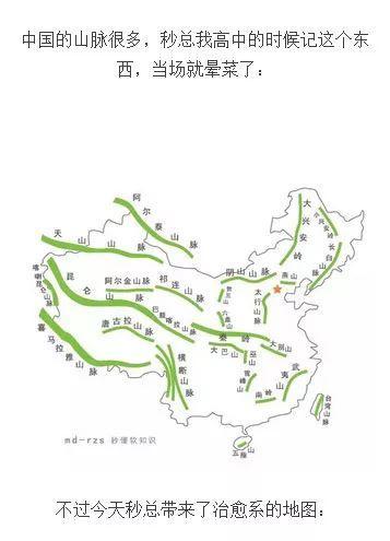中国山脉地图(教你秒懂)