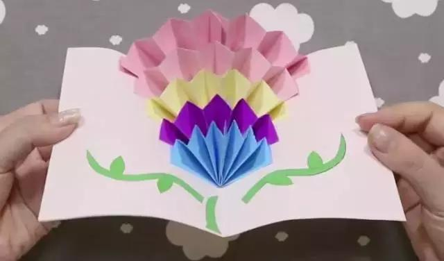 「创意贺卡」折纸立体贺卡,折出不一样的祝福,送出美好心愿~