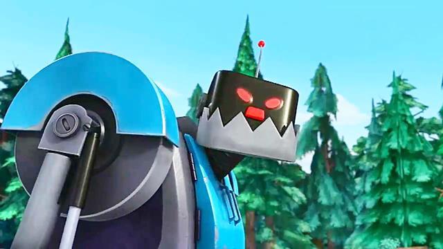 熊出没:光头强获得了光头强机器人,不需要动手就能砍树,厉害!