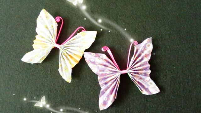 立體蝴蝶折紙大全圖解