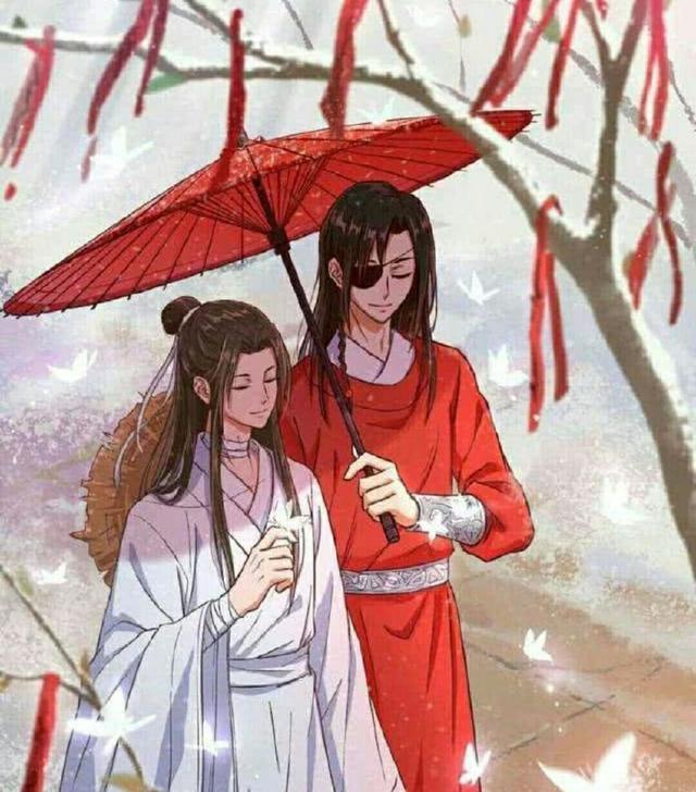 动漫古风红衣妖孽美男