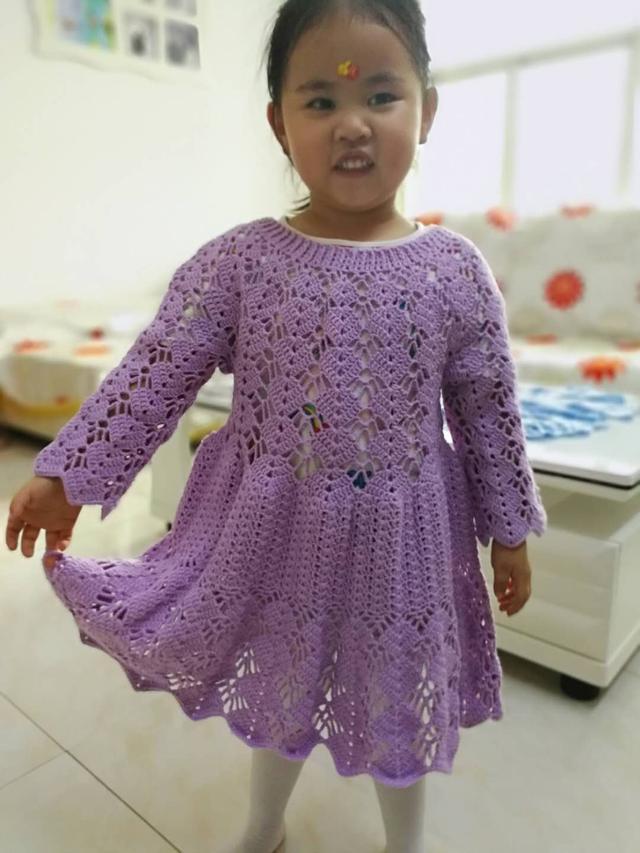 儿童运动长袖连衣裙