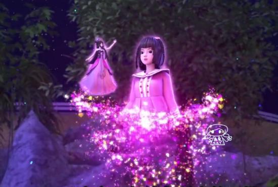 精灵叶罗丽:花仙子见到高泰明发光了,高泰明对她十分好奇