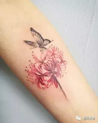 50张纹身贴防水女持久性感ins风小清新花朵彼岸花刺青锁骨网红款