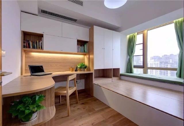 榻榻米衣柜书桌书架