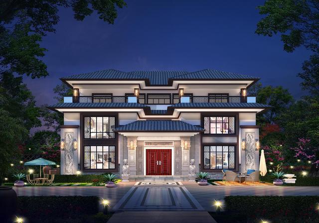 20套新中式别墅,腹有诗书气自华,家有国风久不厌