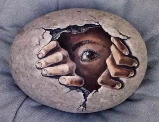 儿童石头画图片大全