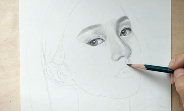素描手绘赵丽颖,喜欢的就支持一下她吧!