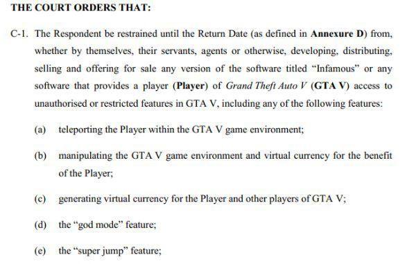 准备开庭:澳大利亚法庭冻结GTA外挂作者账户