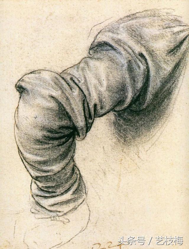 美术学习:布的褶皱素描绘画技巧讲解,巧学素描技巧,马上收藏吧