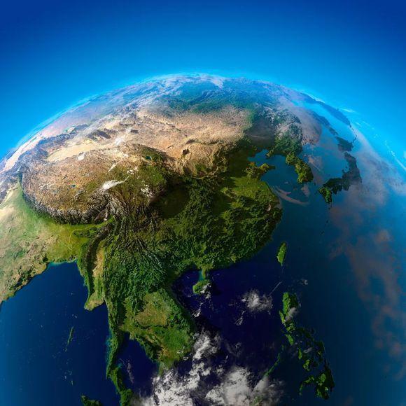 世界地形图高清版大图