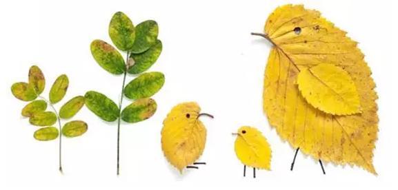 树叶贴画图片大全_儿童树叶粘贴画手工作品