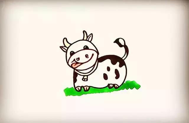 牛的简笔画新年卡通