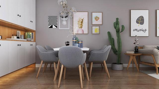 现代餐客厅图片
