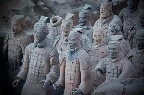秦兵马俑绘画图片大全