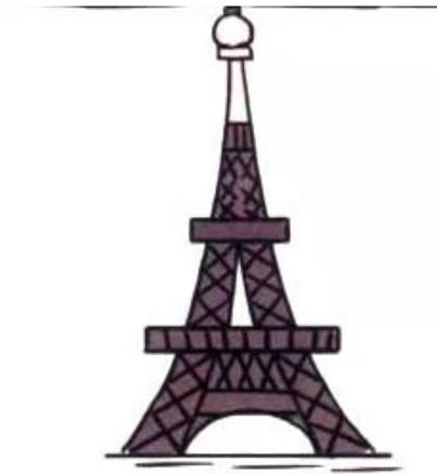 巴黎铁塔卡通