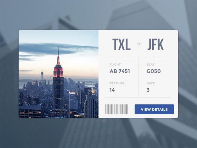 经常出差的你,是否注意过登机牌的样子?二十款登机牌设计分享