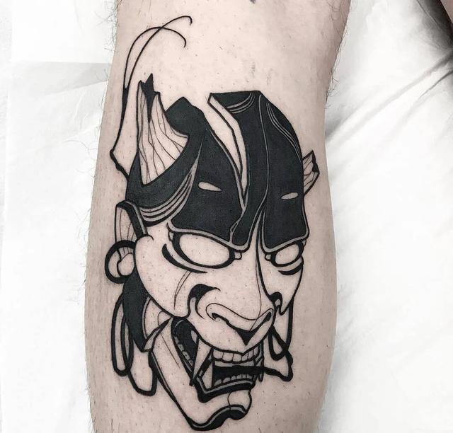 面具人纹身图案-面具人纹身的手稿图片-面具人纹身... - 纹身图库