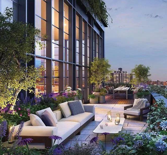 """顶楼露台装修效果图堪比""""空中花园"""" 这样设计爱死了!"""