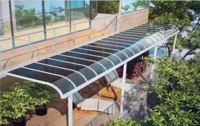 家用阳光板雨棚介绍及阳光板雨棚效果图欣赏