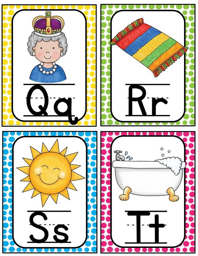 英语启蒙的孩子怎能少了26个字母?可打印的英文字母素材图片