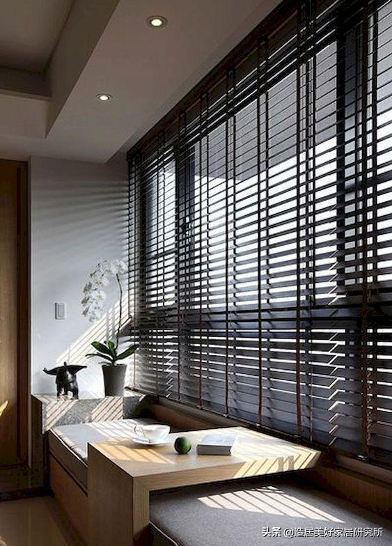 傳統窗簾沒亮點,不如用百葉窗來營造感