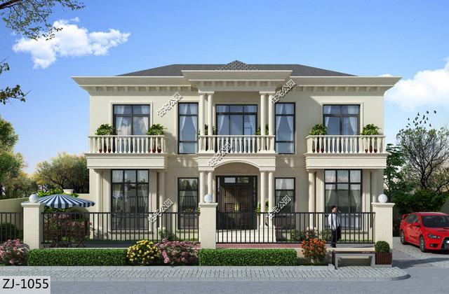 房子想要建的大气,推荐8套法式别墅图纸,哪套更适合农村?