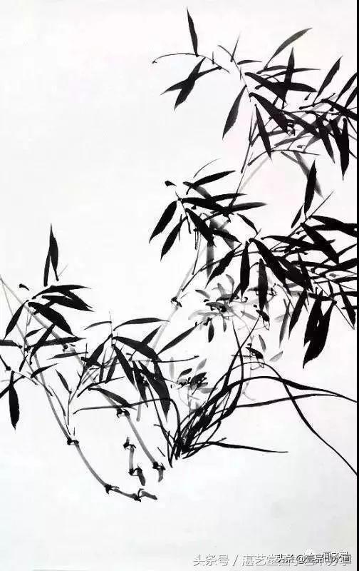 国画知识:竹子很难画?教你4种竹竿的基本画法,简单易学,收藏