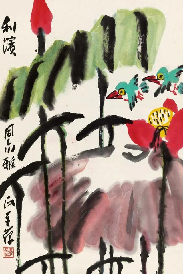 在跨车胡同15号拜见87岁的齐白石老人,让他更坚定了绘画方向