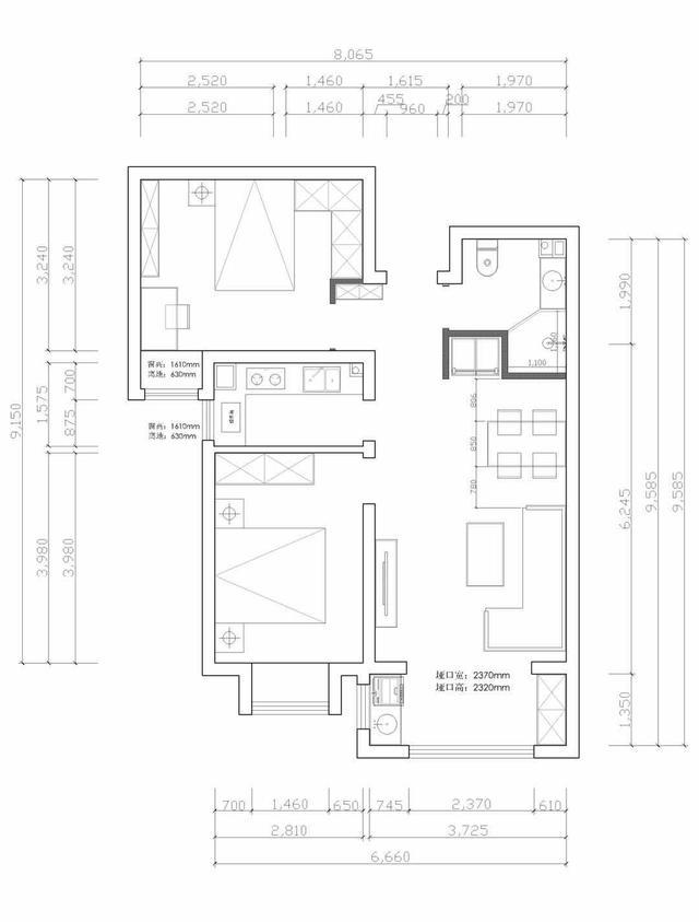「太原一家一装饰」坤泽十里城93平米现代简约风格装修案例