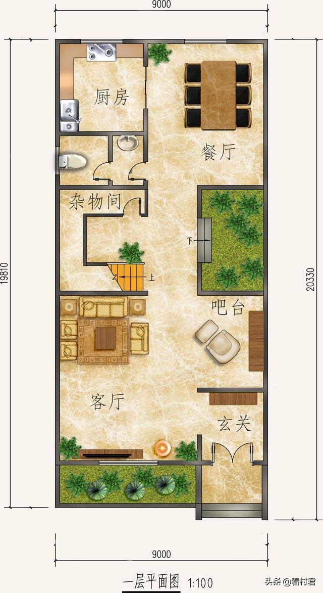 4套农村三层别墅设计图由你选,让你盖房无忧!效果图+平面图