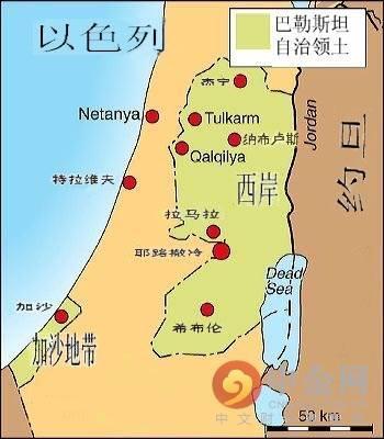 叙利亚巴勒斯坦地图