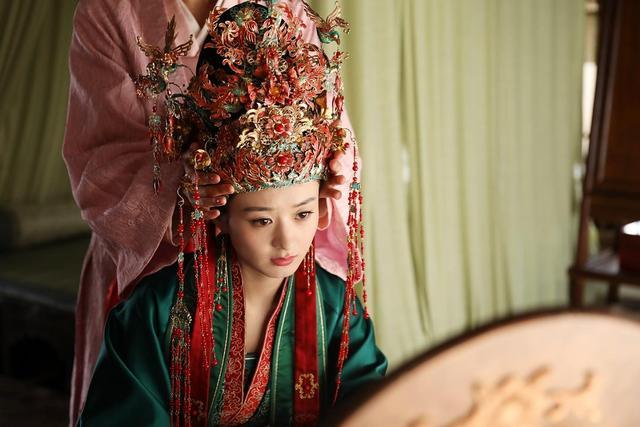 古代公主凤冠头饰图
