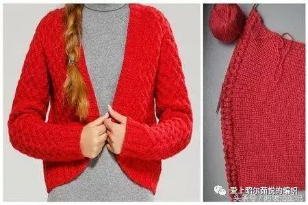 女式长款开衫毛衣外套的织法说明-编织乐论坛