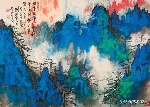 国画名家刘海粟作品欣赏