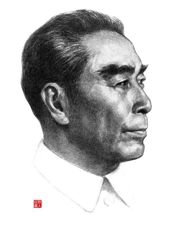 中国伟人素描临摹头像
