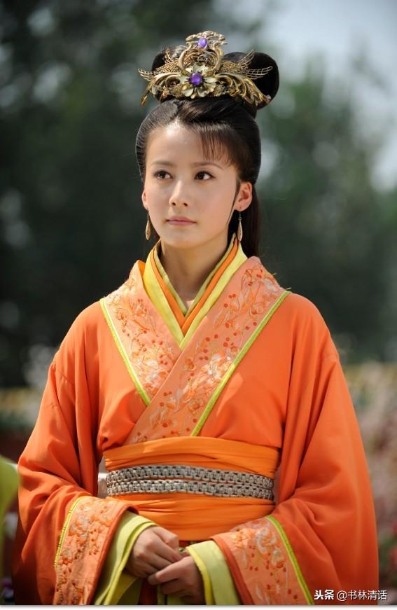 华丽丽的8大橙色宫廷装:郑旦比西施还美,表情包萧蔷竟也是尤物