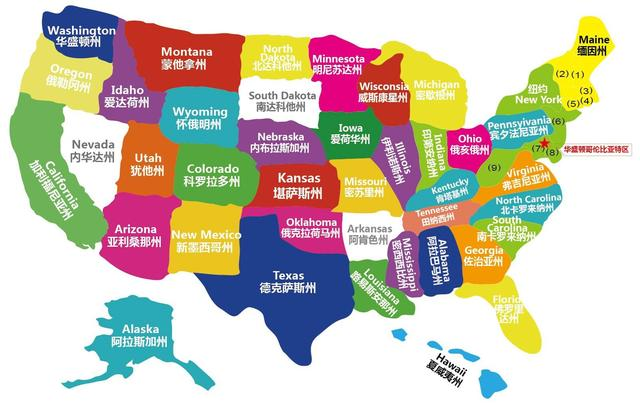 美国德州地理位置地图