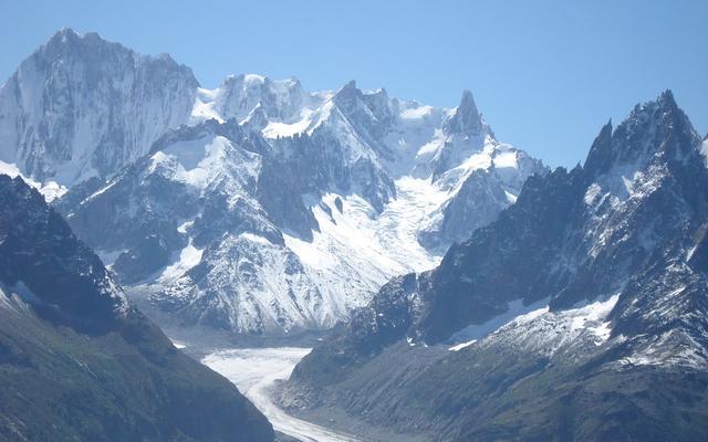 阿尔卑斯山脉雪山_素材公社