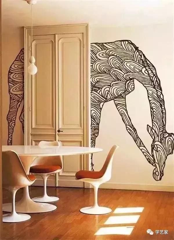 适合家庭的墙画