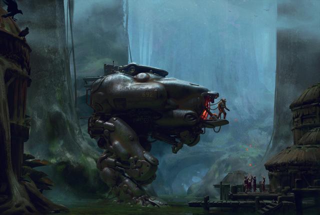 超科幻未来概念机甲