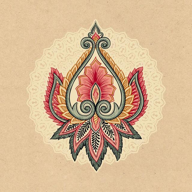 色彩鲜艳,搭配奇特的民族风花边像素图,手工万能图解
