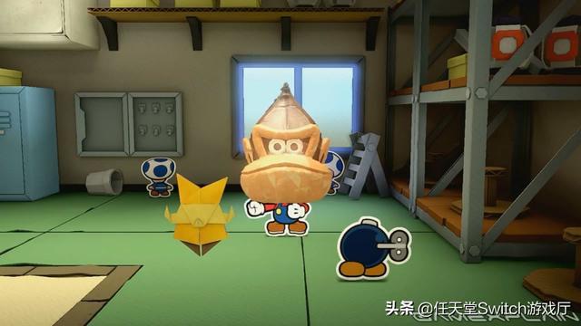 《纸片马里奥折纸国王》小彩蛋!折纸节主题头套