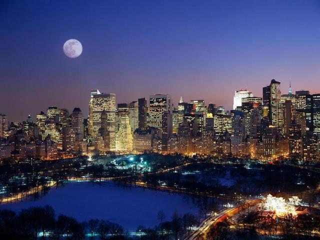 城市灯光夜景手机壁纸