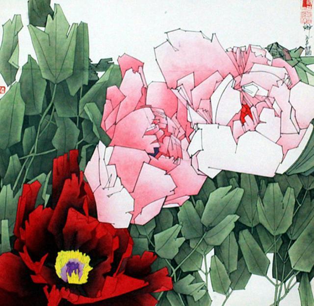 工笔花卉白描线稿高清