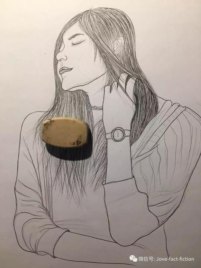 超简单的长发女生简笔画原创教程步骤-简笔画