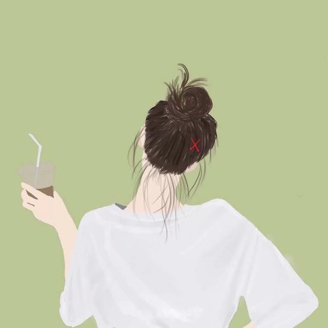 女生头像动漫背面